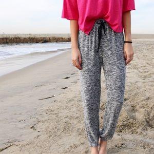 grey knit joggers